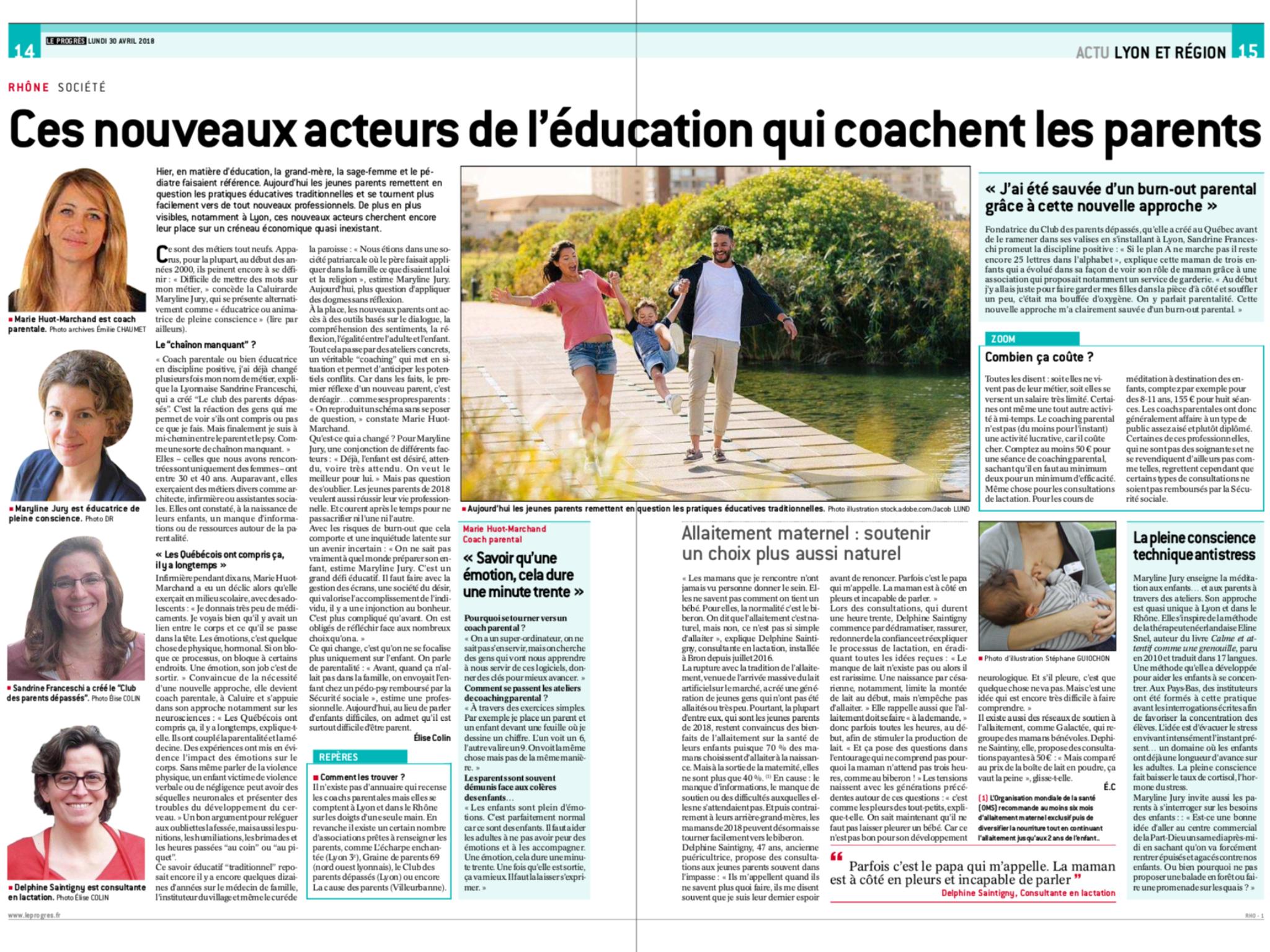 Acteur de l'éducation Lyon. Parentalité Lyon. Sandrine Franceschi